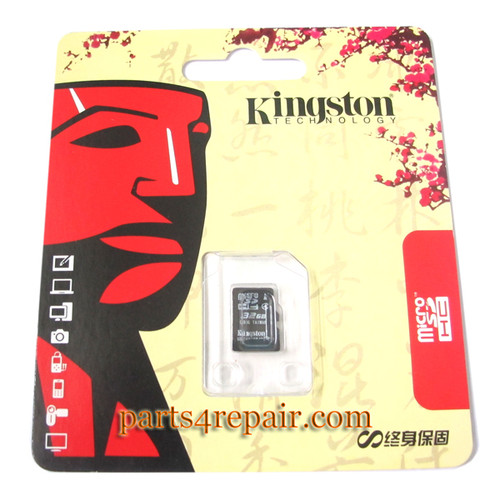 Kingston 32GB Micro SD Class 4 Memory Card from www.parts4repair.com