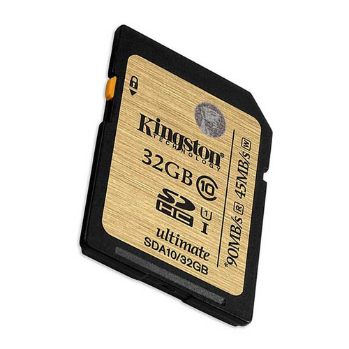 Kingston 32GB SDHC 90MB/S Memory Card