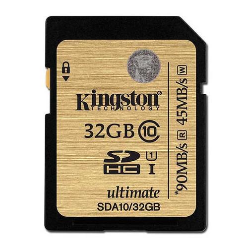 Kingston 32GB SDHC Memory Card 90MB/S Read 45MB/S Write UHS-I Flash Card
