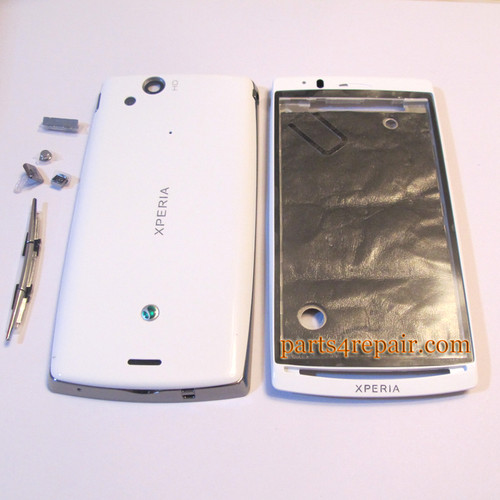 Full Housing cover for Sony Ericsson Xperia Arc S LT18I / LT15I  - White
