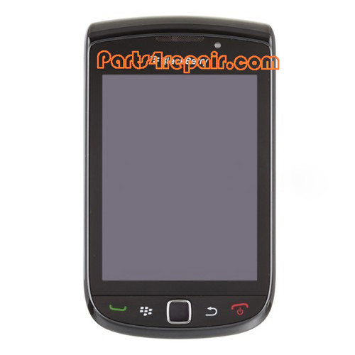 Complete Screen Assembly with Bezel for BlackBerry Torch 9800(001 Version) -Black