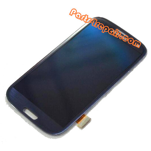 Complete Screen Assembly without Bezel for Samsung I9300 Galaxy S III -Blue