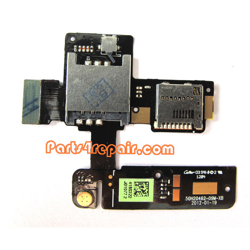 HTC One V SIM Card Board from www.parts4repair.com
