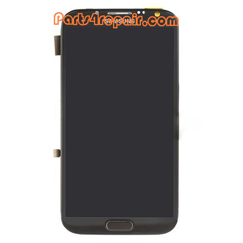 Samsung Galaxy Note II N7100 Full Screen Assembly with Bezel -Gray