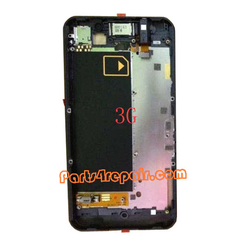Middle Plate for BlackBerry Z10 3G -Black