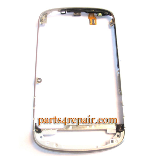 Middle Bezel for BlackBerry Q10 -White from www.parts4repair.com
