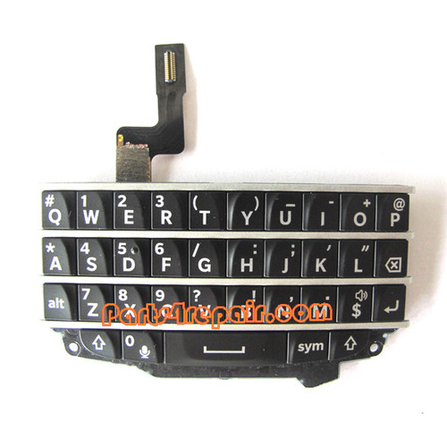Keypad Board with Flex Cable for BlackBerry Q10 -Black from www.parts4repair.com