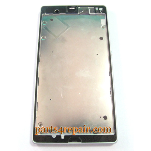 Front Housing Cover for Sony Xperia Z L36H -White