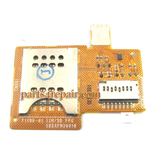 SIM Holder Flex Cable for Sony Xperia miro ST23I
