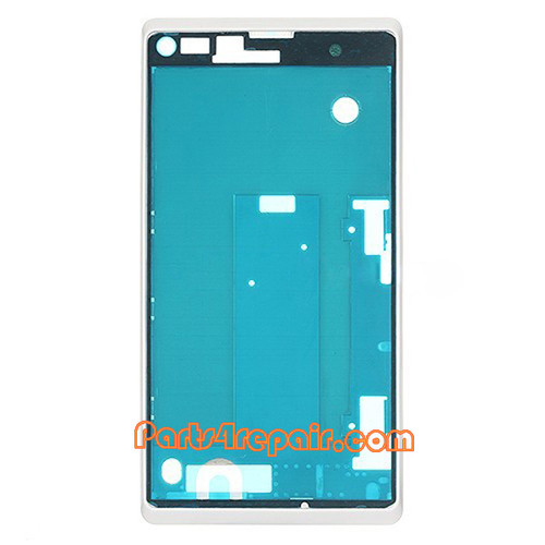 Front Cover for Sony Xperia L S36H -White from www.parts4repair.com