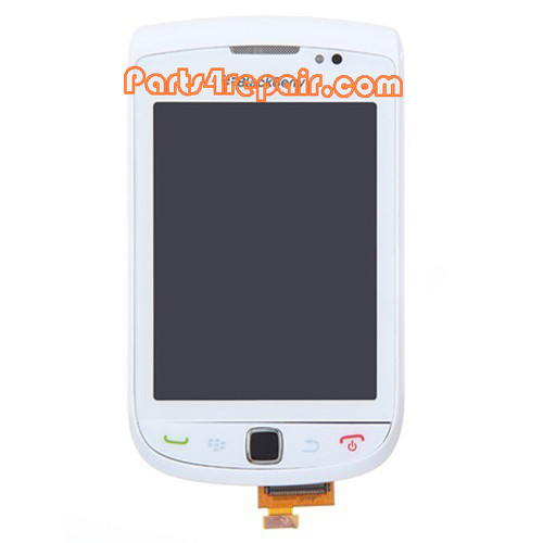 Complete Screen Assembly with Bezel for BlackBerry Torch 9800(001 Version) -White
