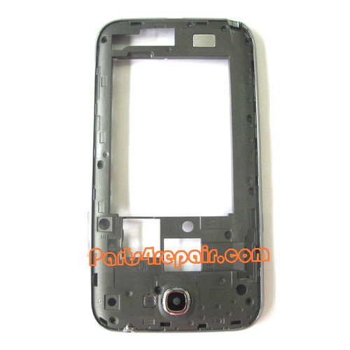 Middle Cover for Samsung Galaxy Note II SCH-I605 -Black