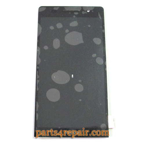Complete Screen Assembly for Huawei Ascend P6 -Black
