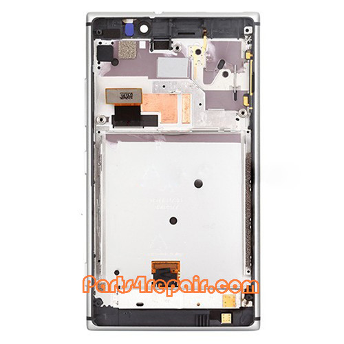 Complete Screen Assembly with Bezel for Nokia Lumia 925 -Silver