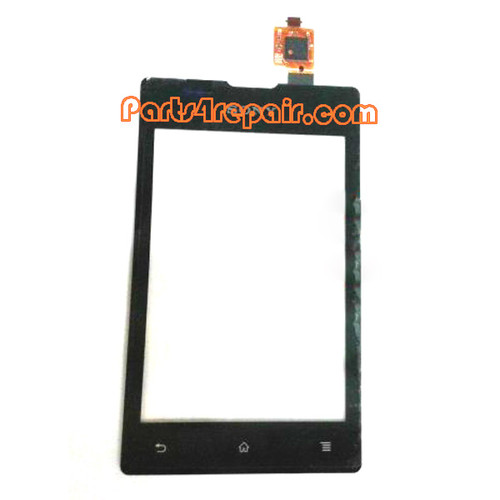 Touch Screen Digitizer for Sony Xperia E C1505 -Black from www.parts4repair.com