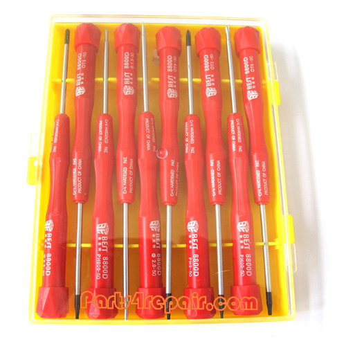10 in 1 BEST Cellphone Repair screwdriver Precision Tool Set 8800D -Red