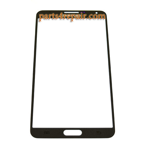 Front Glass Lens for Samsung Galaxy Note 3 -Black