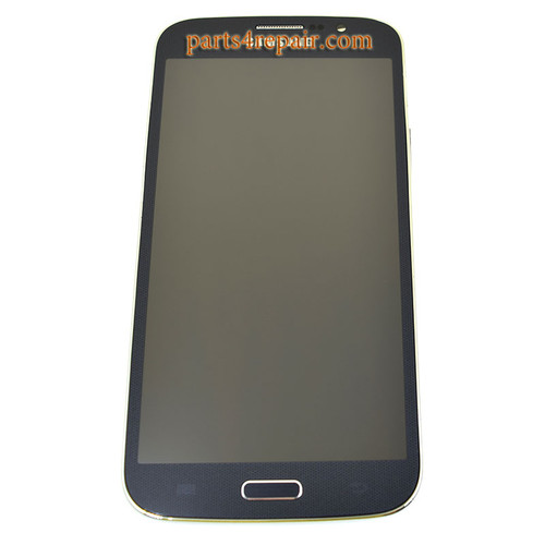 Complete Screen Assembly with Bezel for Samsung Galaxy Mega 5.8 I9150 -Black