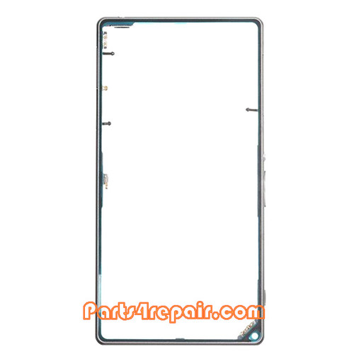 Middle Cover for Sony Xperia Z1 L39H -Black from www.parts4repair.com