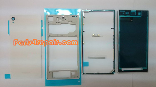 Full Housing Cover for Sony Xperia Z1 L39H -White from www.parts4repair.com