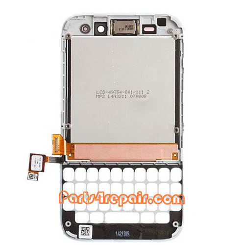 Complete Screen Assembly with Frame for BlackBerry Q5 -White