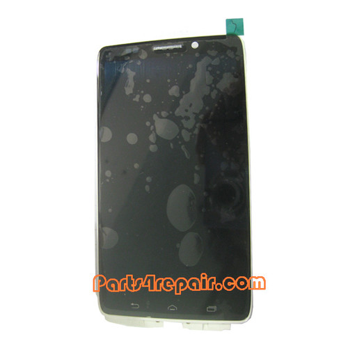 Complete Screen Assembly with Bezel for Motorola Droid Ultra XT1080 -White from www.parts4repair.com