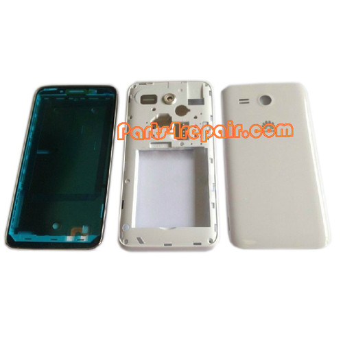 Full Housing Cover for Huawei Ascend Y511 -White from www.parts4repair.com
