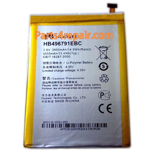 3900mAh Battery for Huawei Ascend Mate MT1-U06 from www.parts4repair.com
