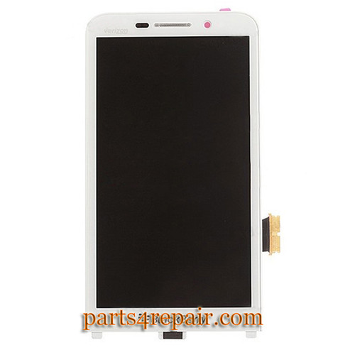 Complete Screen Assembly with Front Bezel for BlackBerry Z30 -White (for Verizon)