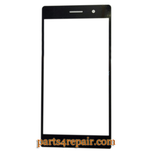 Front Glass for Huawei Ascend P7 -Black from www.parts4repair.com