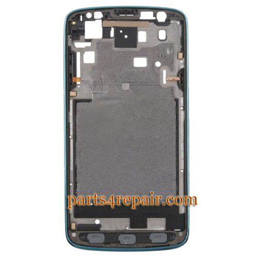 Front Housing Cover for Samsung I9295 Galaxy S4 Active -Blue