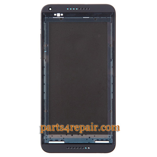 Front Housing Cover with Side Keys for HTC Desire 816 -Black from www.parts4repair.com