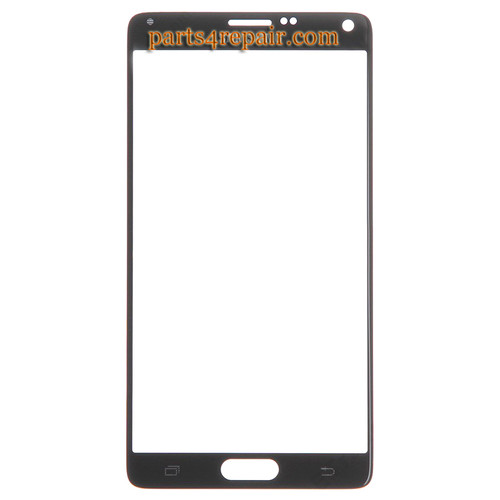 Front Glass for Samsung Galaxy Note 4 -Black from www.parts4repair.com