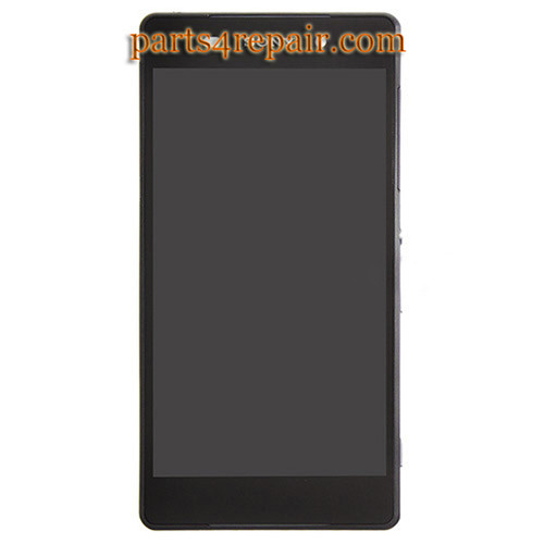 Complete Screen Assembly with bezel for Sony Xperia Z2 -Black from www.parts4repair.com