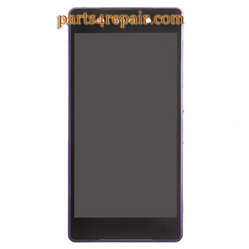 Complete Screen Assembly with Bezel for Sony Xperia Z2 from www.parts4repair.com
