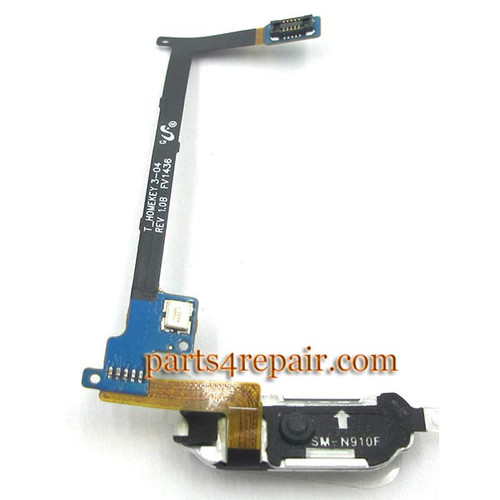 Home Button Flex Cable for Samsung Galaxy Note 4 -Gold