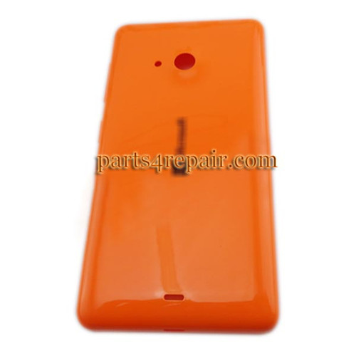 Back Cover with Side Keys for Microsoft Lumia 535 -Orange(Smooth and Bright)