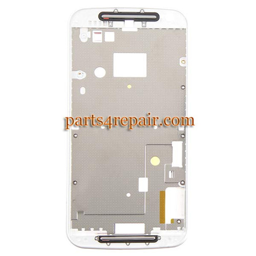 Front Housing Cover for Motorola Moto G2 -White from www.parts4repair