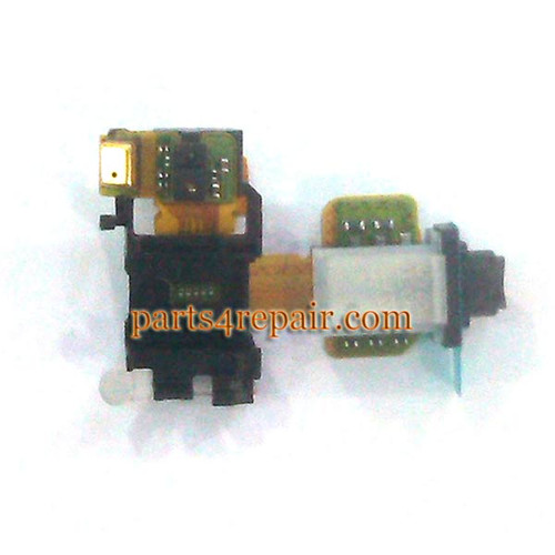Earphone Jack Flex Cable for Sony Xperia E3 from www.parts4repair.com