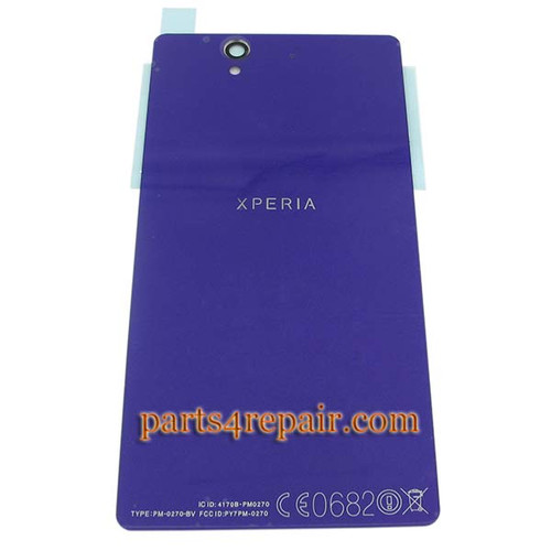 Back Cover with NFC OEM for Sony Xperia Z L36H -Purple