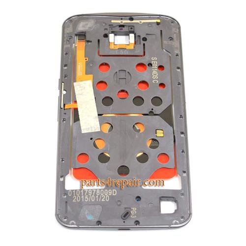 Middle Plate for Motorola Nexus 6 -Black