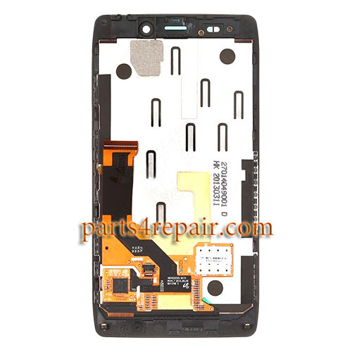 Complete Screen Assembly with Bezel for Motorola Droid RAZR HD XT926 -Black