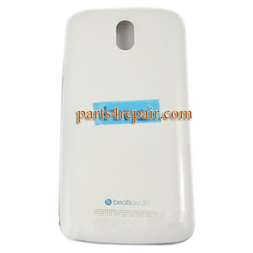 Back Cover with Side Keys for HTC Desire 500 -White