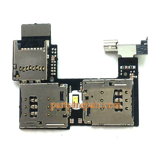 SIM Card Reader Flex Cable for Motorola Moto G2 from www.parts4repair.com