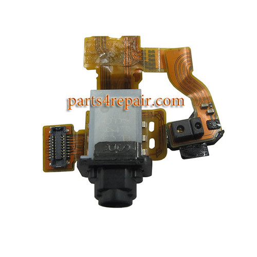 Earphone Jack Flex Cable for Sony Xperia Z3 Compact (Z3 mini) from www.parts4repair.com