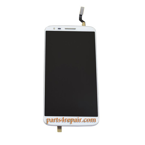 Complete Screen Assembly with Bezel for LG G2 F320 F320S F320L(for Korea) -White