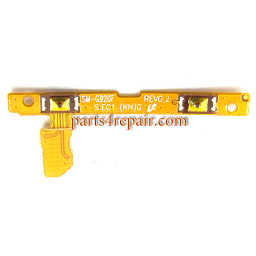 Volume Flex Cable for Samsung Galaxy S6 from www.parts4repair.com