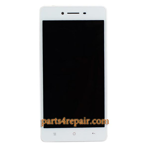 Complete Screen Assembly with Bezel for Oppo R7 -White