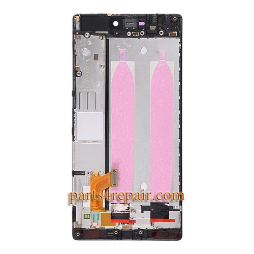 Complete Screen Assembly with Bezel for Huawei P8 -Black