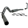 """MBRP 4"""" Turbo Back Aluminized Exhaust System Single Side (Stock Cat) With Muffler Ford 6.0L 03-07"""